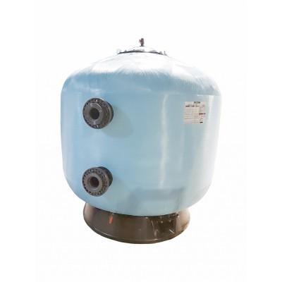 Фильтр мотаный стекловолокно PRAGA без вентиля (боковой тип подключения, выход 90 мм.) D1200 мм., 45//56 м3/ч, 40//50 м3/ч/м2, 2,5 бар