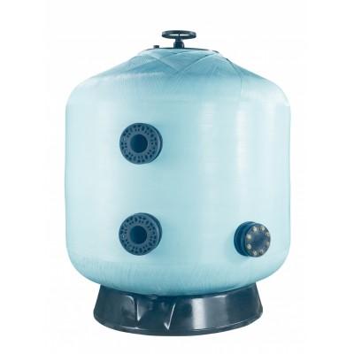 Фильтр мотаный стекловолокно VIC без вентиля (боковой тип подключения, выход 90 мм.) D1200 мм., 45//56 м3/ч, 40//50 м3/ч/м2, 2,5 бар