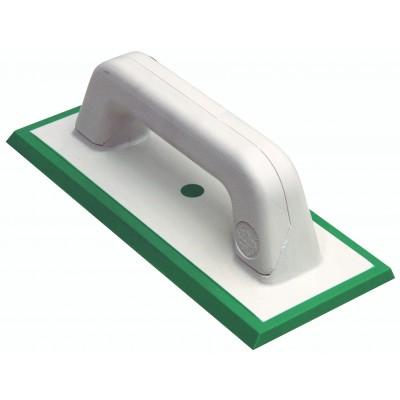 Шпатель затирочный из жесткой зеленой резины для эпоксидных затирок