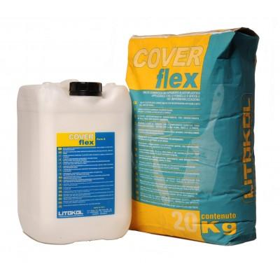 Цементная двухкомпонент. эластичная смесь для гидроизоляции COVERFLEX (компонент В), 10 кг