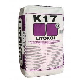 Серый клей для плитки.Класс С1. Litokol K17, 25 кг