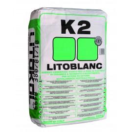 Экстрабелый клей для мозаики. Класс С1Т. LITOBLANC К2, 25 кг
