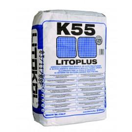 Белый, эластичный цементный клей Морозостойкий. Класс С2ТЕ. Litoplus K55, 25 кг