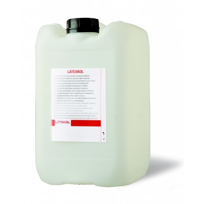 Высокоэластичная вододисперсионная добавка для цементных клеевых смесей LATEXCOL, 20 кг