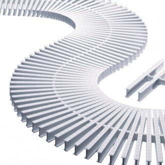 Модуль переливной решетки 22x195 мм, пластик, белый