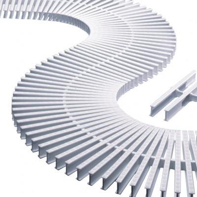 Модуль переливной решетки 35x195 мм, пластик, белый