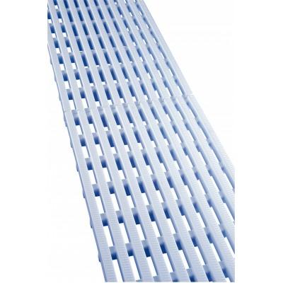 Переливная решетка (продольная), 22x195 мм, длина 500 мм, пластик