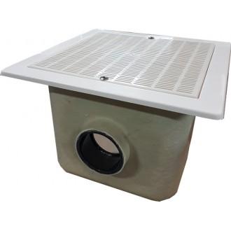 Слив донный 330x330 мм., бетон, подкл. D90, ABS-пластик